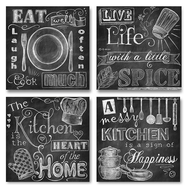 Chalkboard-Style Paper Kitchen Signs
