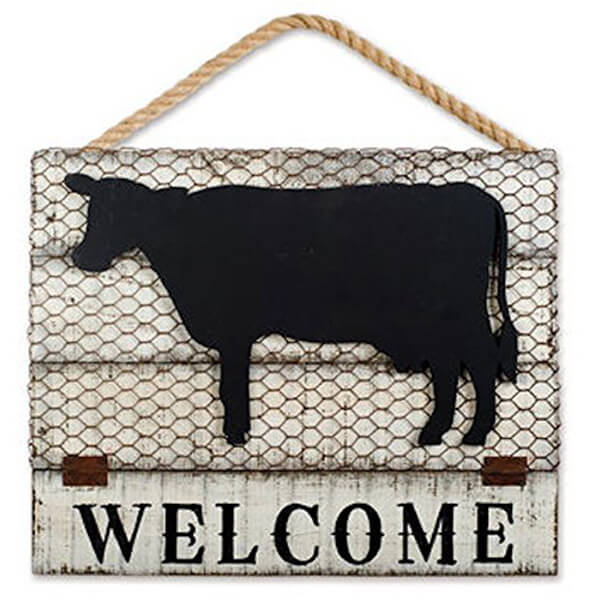 Welcome Sign and Chalkboard with Easel