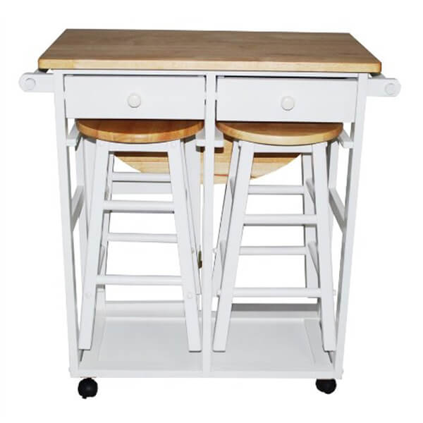 Breakfast Cart Table and 2 Stools