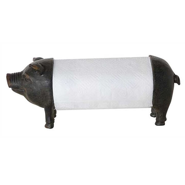 Creative Metal Pig Paper Towel Holder