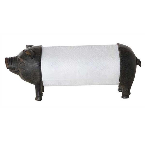 Creative Metal Pig Paper Towel Holder