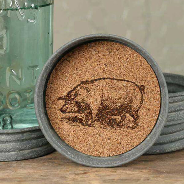 Mason Jar Rooster Lid Coaster