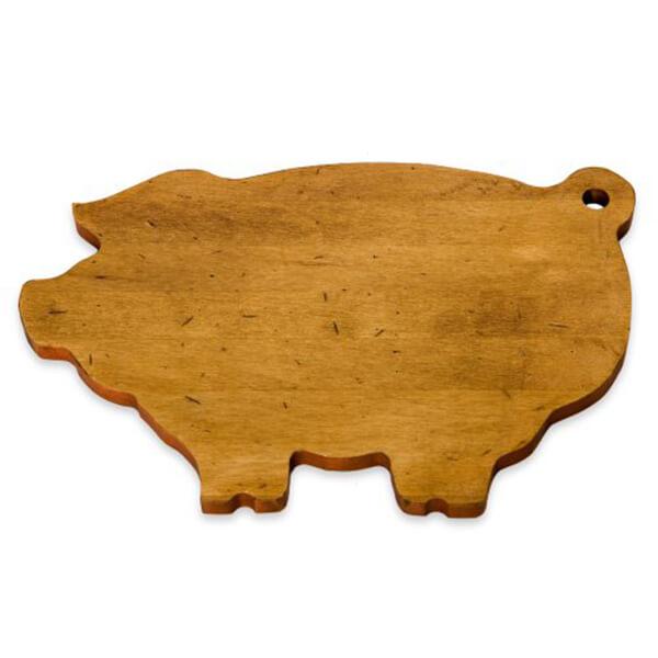 Pig-Shaped Wood Cutting Board