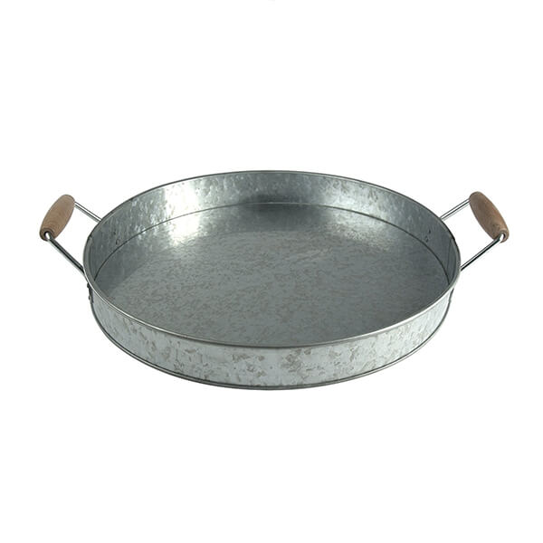 Galvanized Metal Party Serving Tray