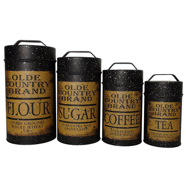 Olde Country Food Safe Canisters