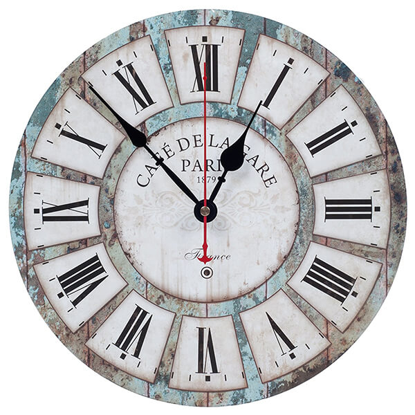 Vintage Rustic Style Wall Clock