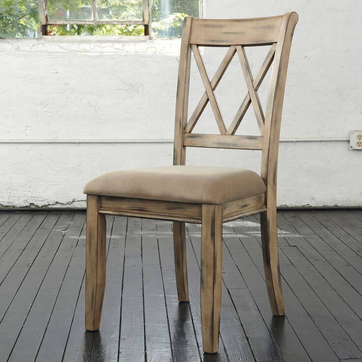 Antique White Side Chair