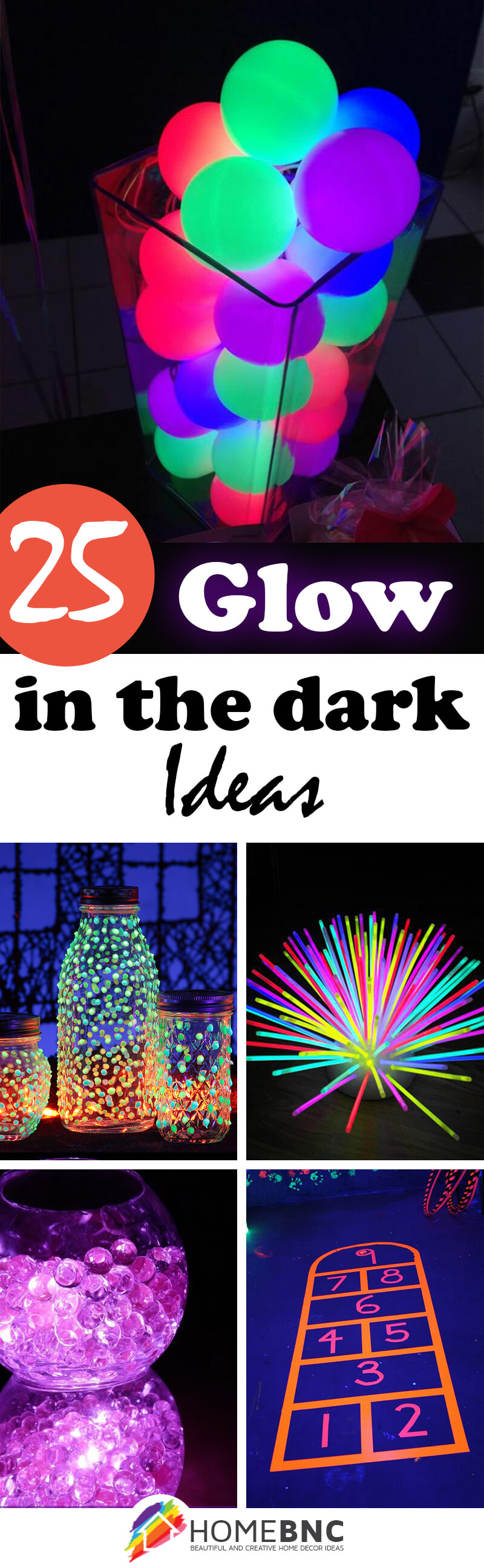 the dark party up decorations ideas idea and decor glow light in wear