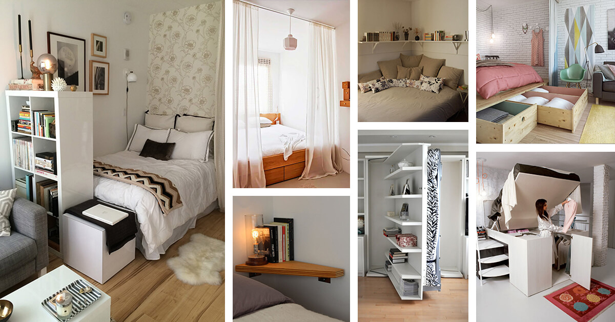 37 Small Bedroom Designs And Ideas For Maximizing Your E That Pop