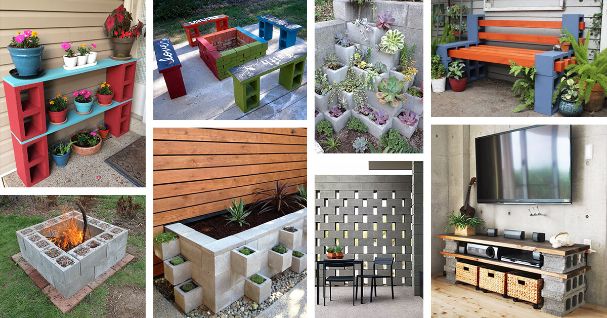 28 Best Ways To Use Cinder Blocks Ideas And Designs For 2020