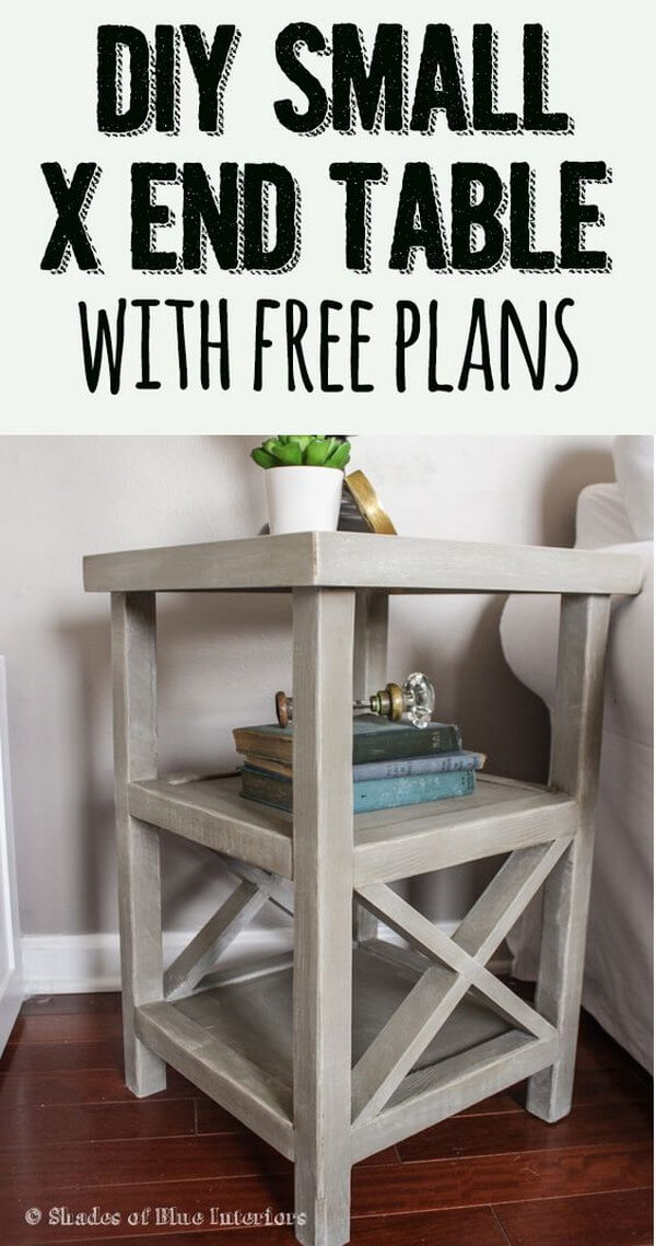 Petite Cross-Hatched Side Table