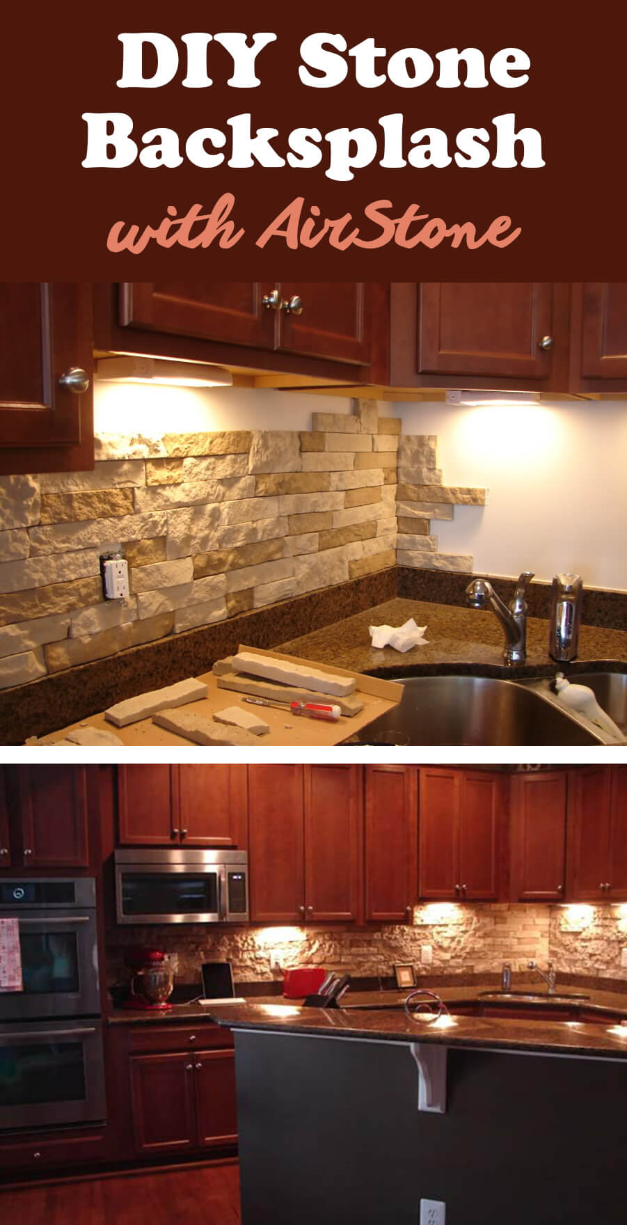 2 airstone for a fast and easy luxe look - Diy Kitchen Backsplash
