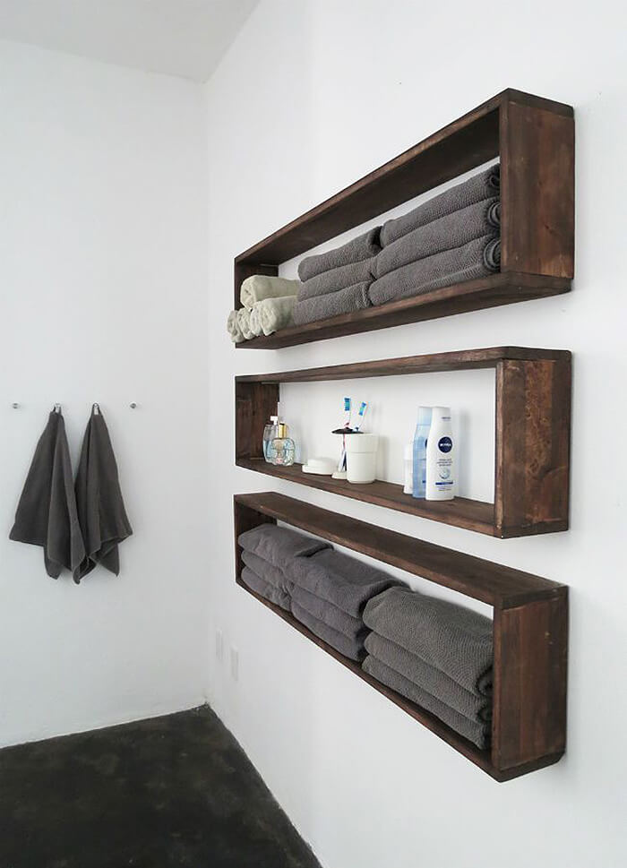 Wooden Thoreau Ascending Shelves