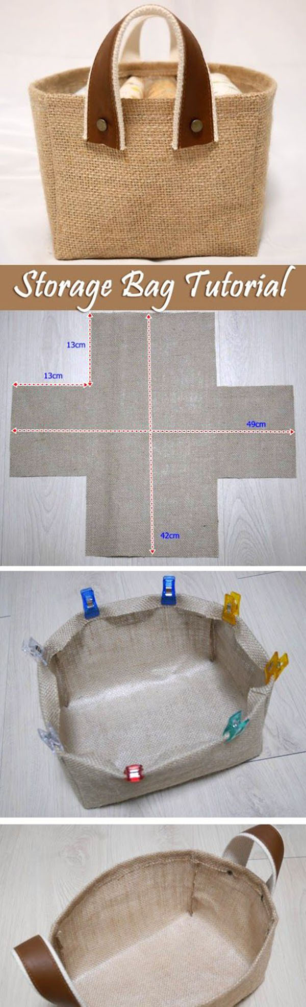 Burlap bathroom ideas - Beach And Country Diy Burlap Tote