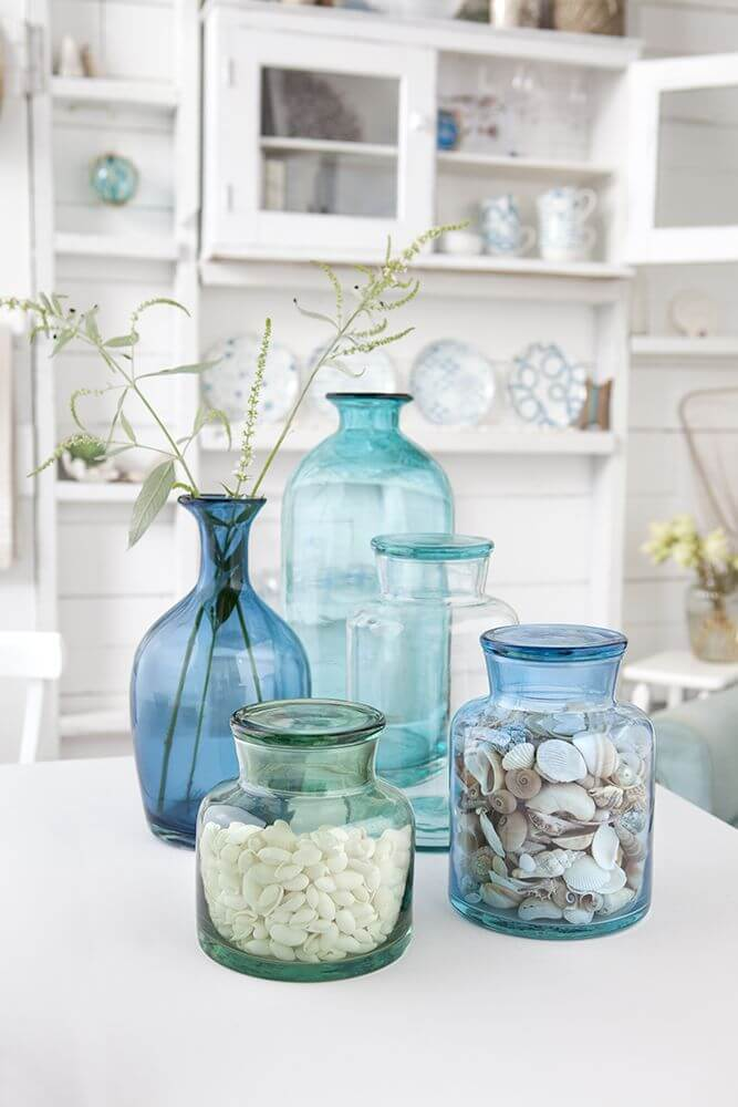 Blue Glass Collections Make For An Easy Update