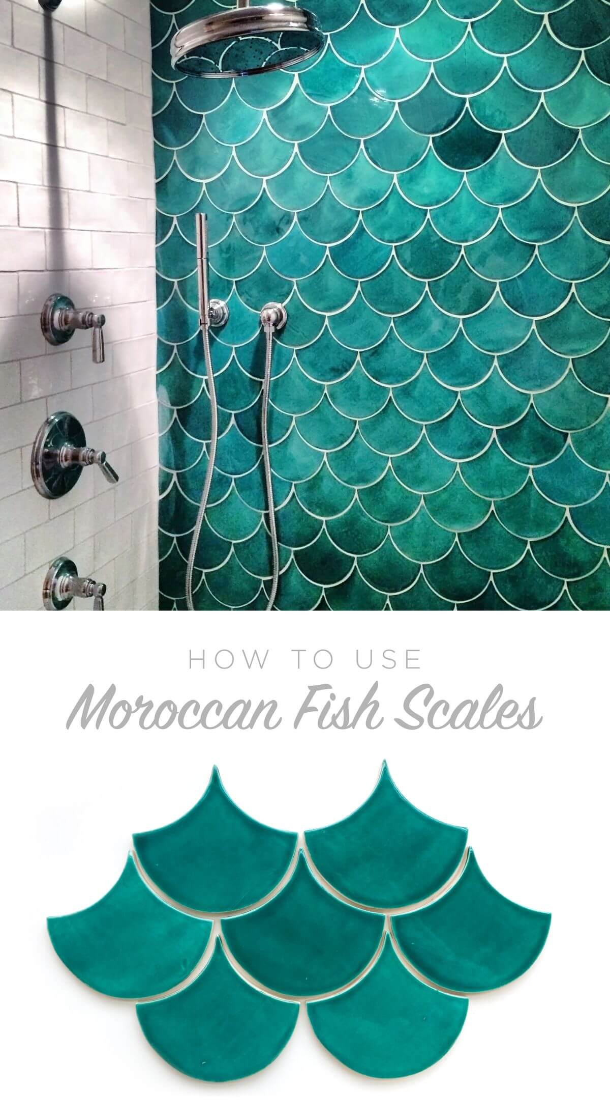 Moroccan Mermaid Fish Scale Tiles