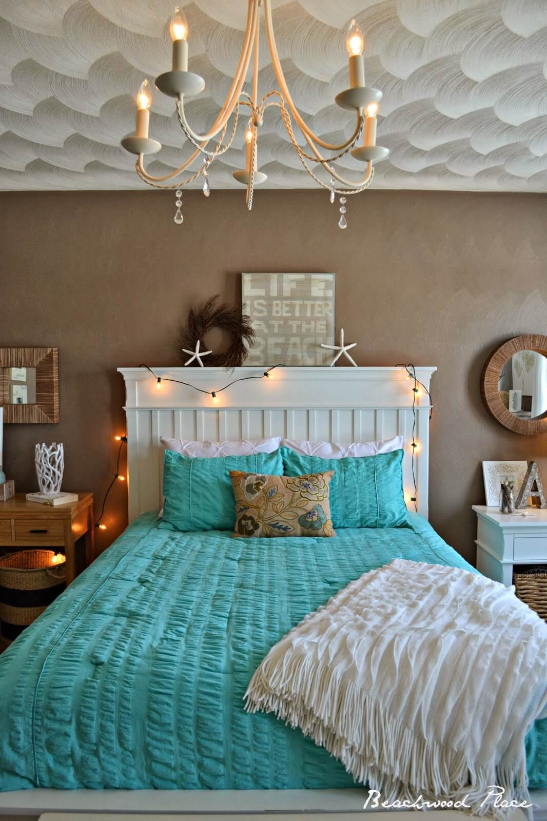 Bold Turquoise In The Bedroom for a Whimsical Sea-Inspired Retreat