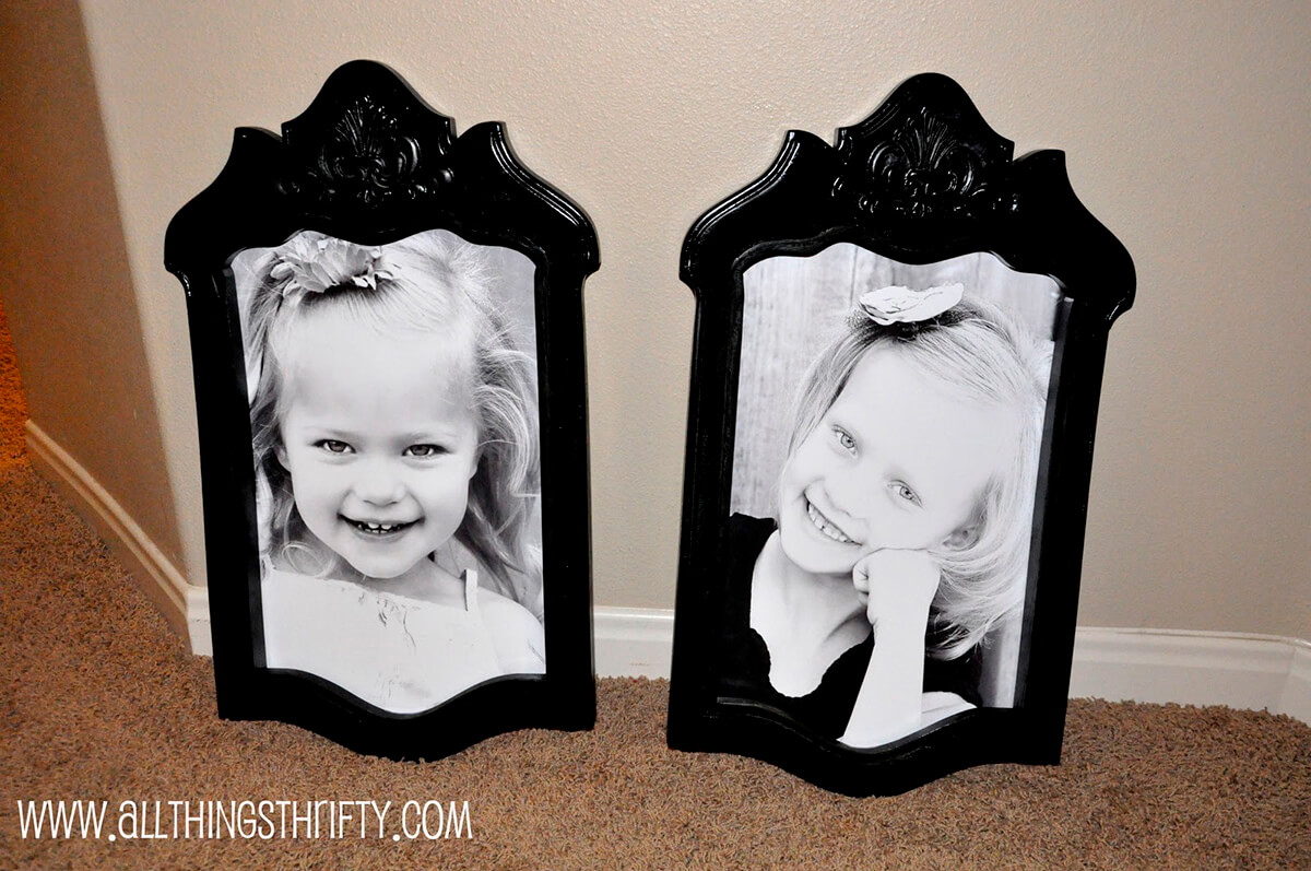 Pretty Picture Frames from Repurposed Wood