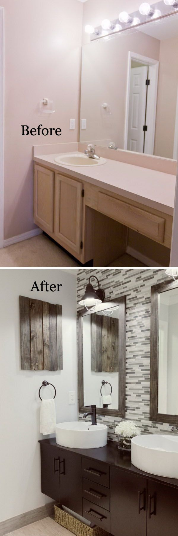 Blukatkraft Diy Quick Easy Wall Art For Bathroom: 28 Best Budget Friendly Bathroom Makeover Ideas And