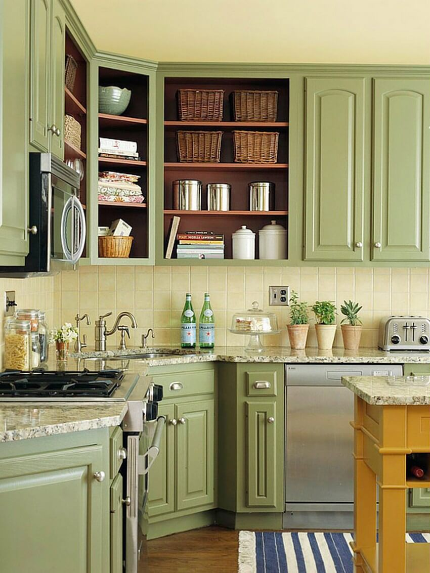 Fantastic 23 Best Kitchen Cabinets Painting Color Ideas And Designs Beutiful Home Inspiration Cosmmahrainfo