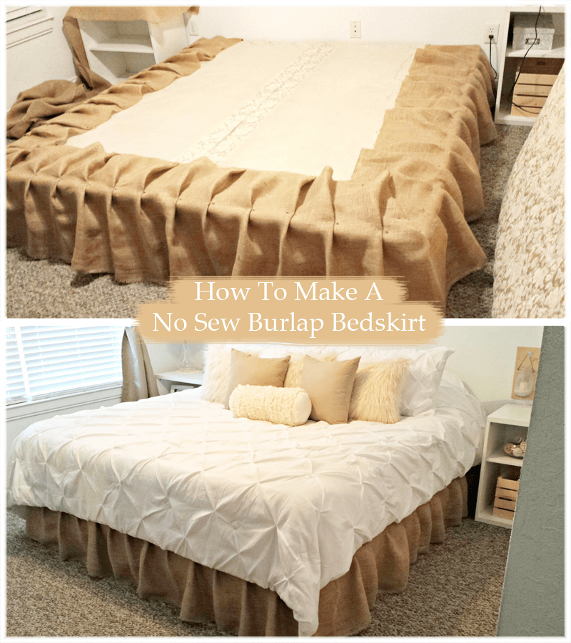 Sweet Dreams Hand-Sewn Burlap Bedskirt