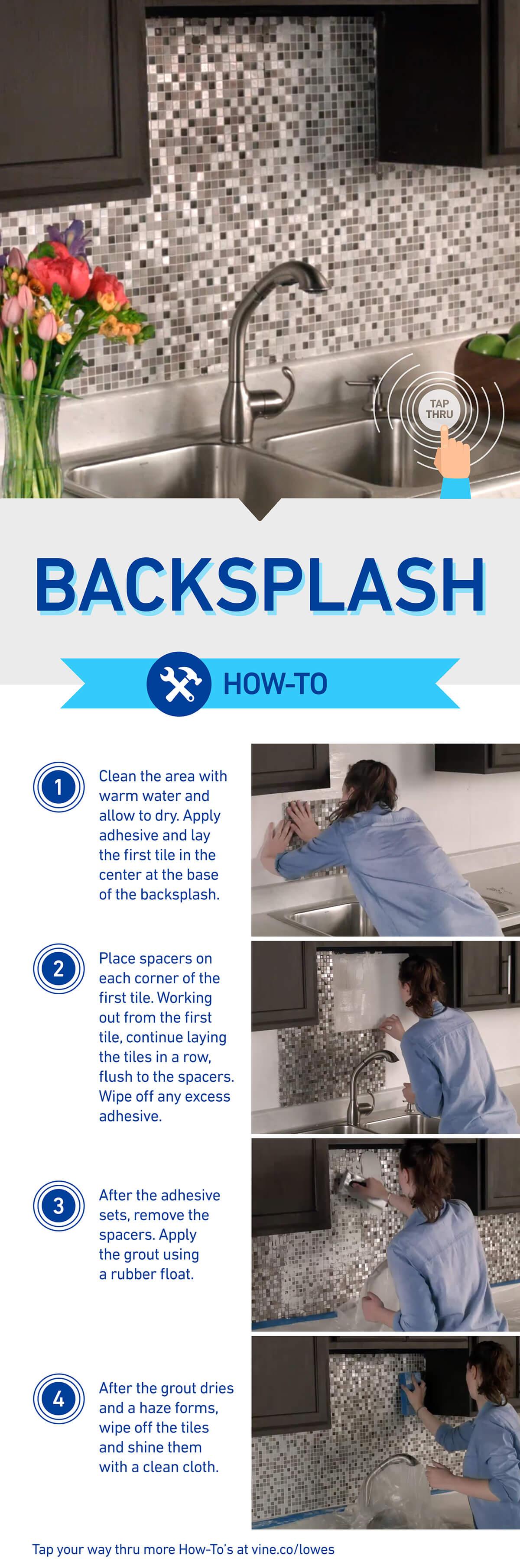 Adhesive Tile Segments make Backsplash Installation Easy