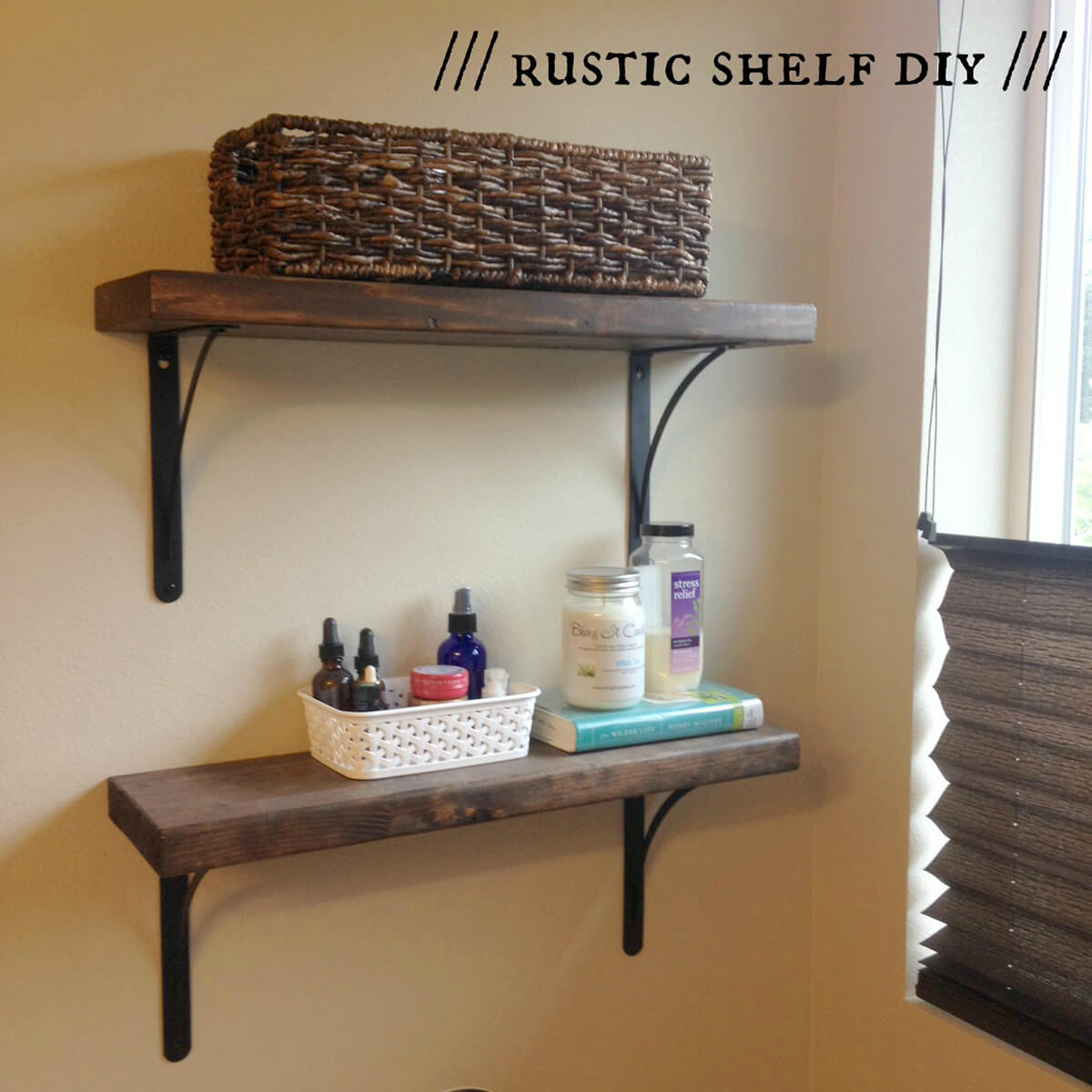 Rustically Refined Free-Form Shelves
