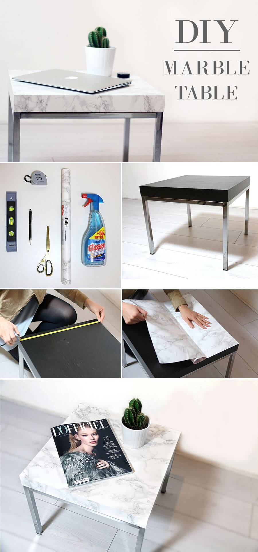 Miraculous Roman Marble Diy Side Table Homebnc Home Interior And Landscaping Ponolsignezvosmurscom