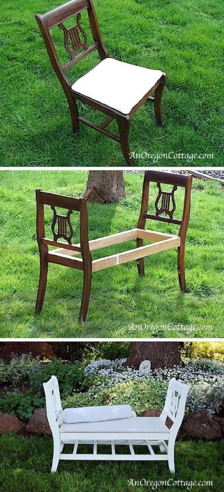 Two Chairs to Create a Comfy Bench
