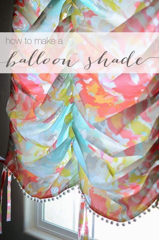 Whimsical Balloon Shades for Little Girl's Room