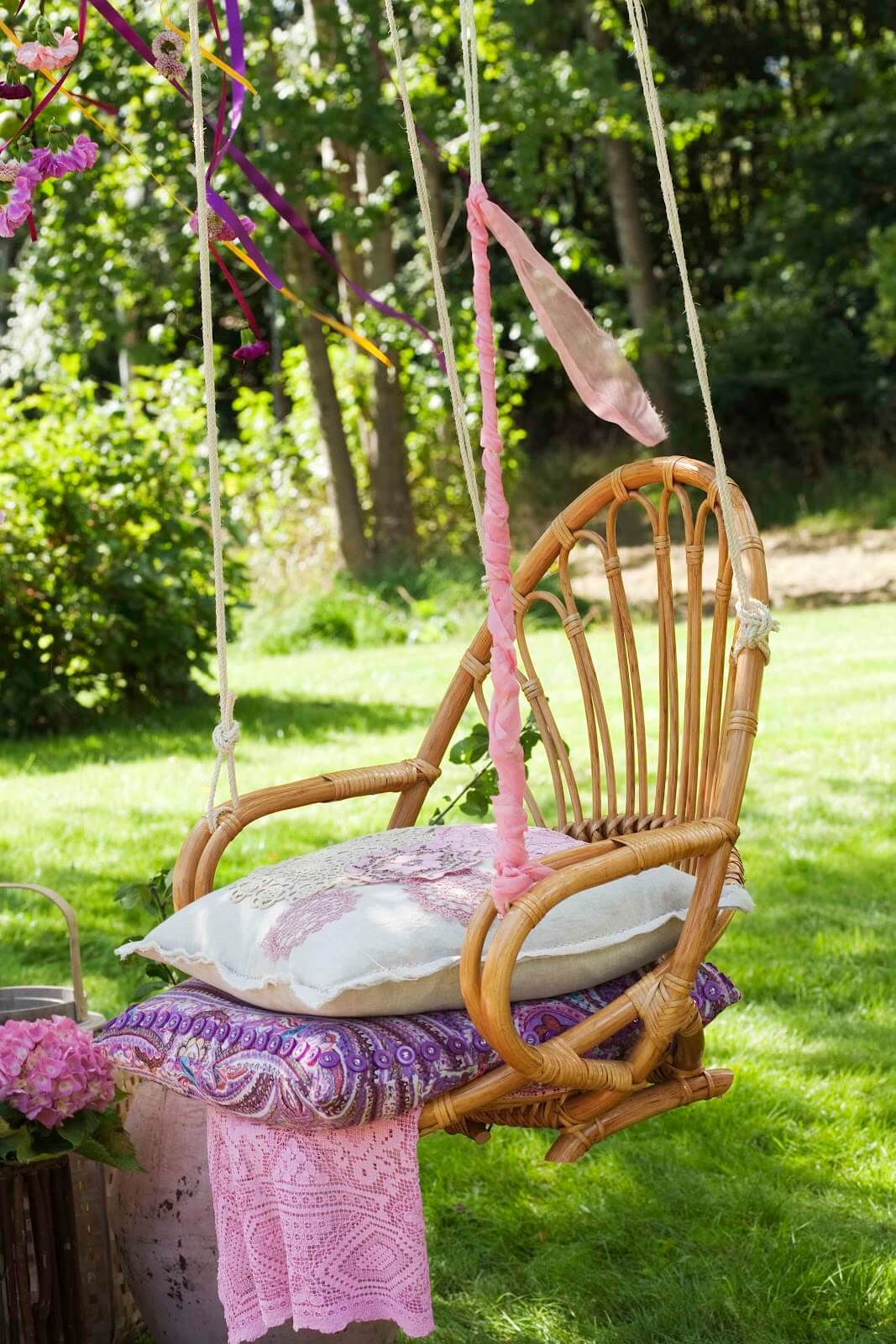 A Chair Swing with Plenty of Cushions