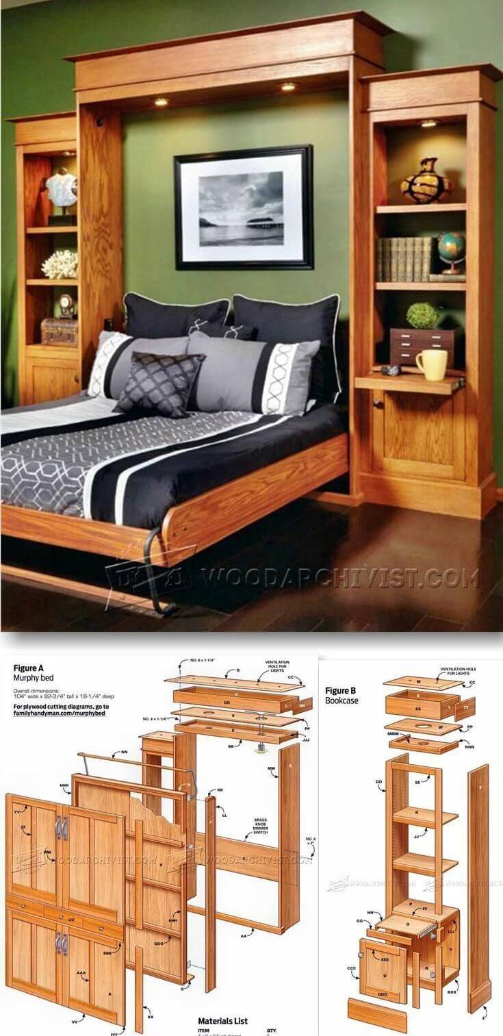 Murphy Bed Diy Ideas : Best diy murphy bed ideas and designs for