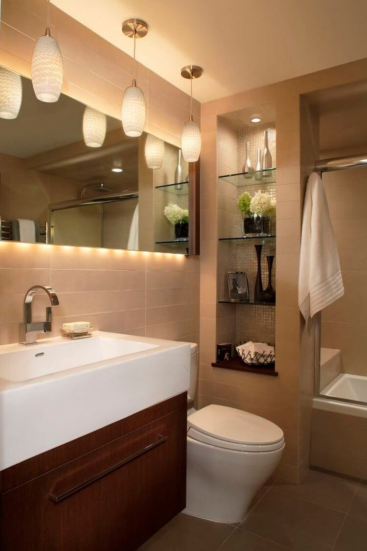 Recessed Bathroom Shelving Can Be Pretty and Functional