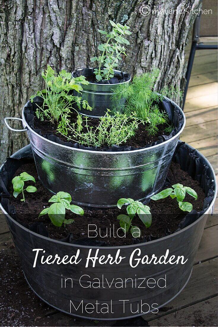 Herb Garden Outdoor Patio Mason Jars
