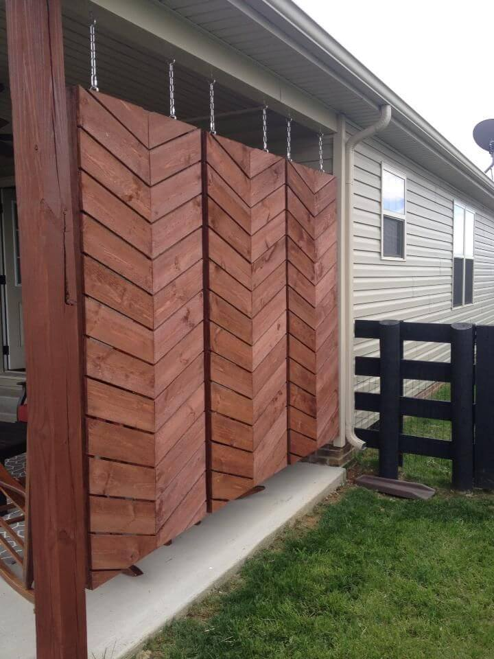 Hanging Wooden Screens For Back Patio Privacy