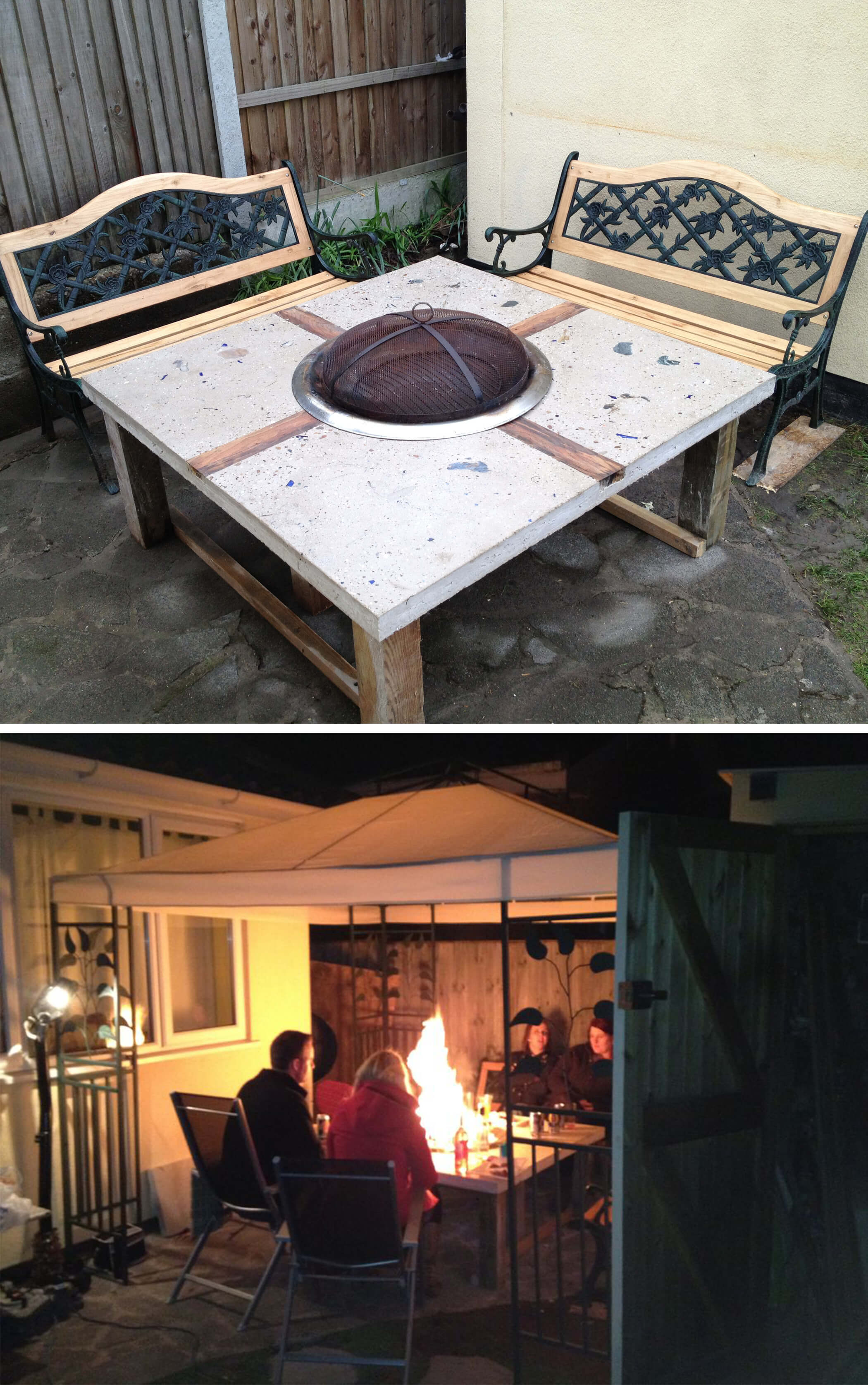 DIY Fire Bowl with a Built-In Design