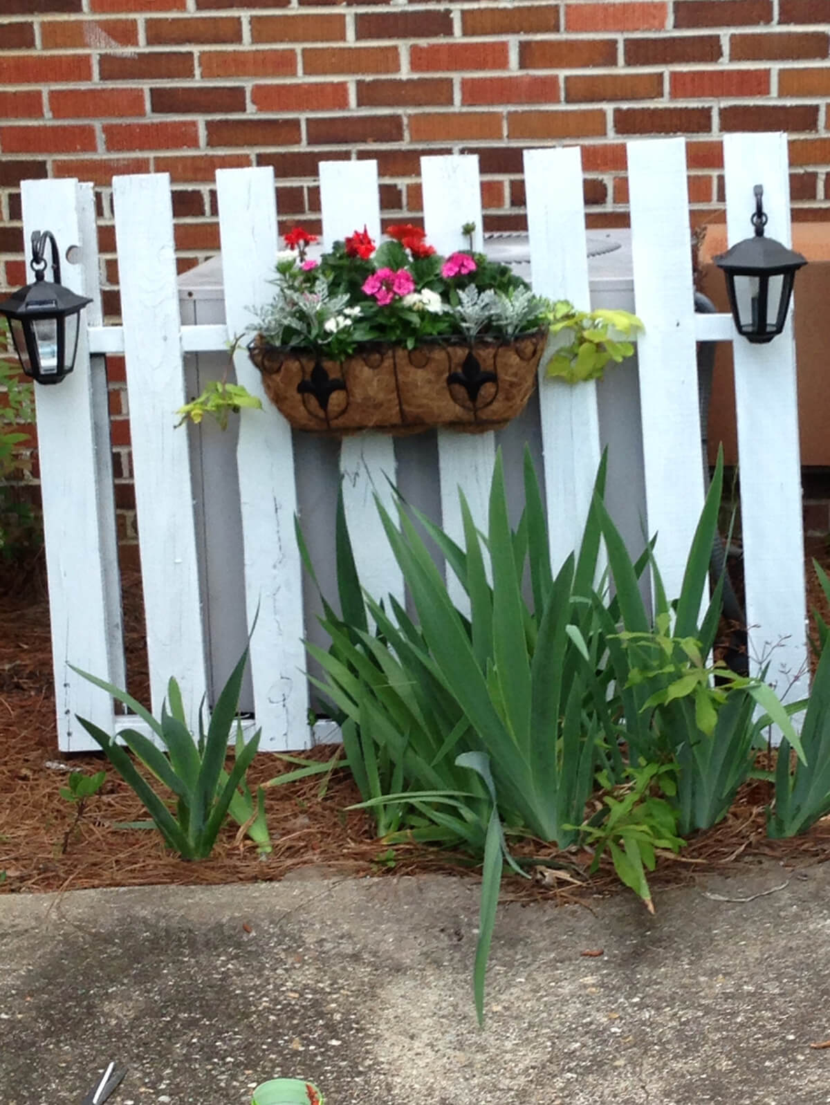 Pretty Picket Fence Screens Unsightly AC Unit