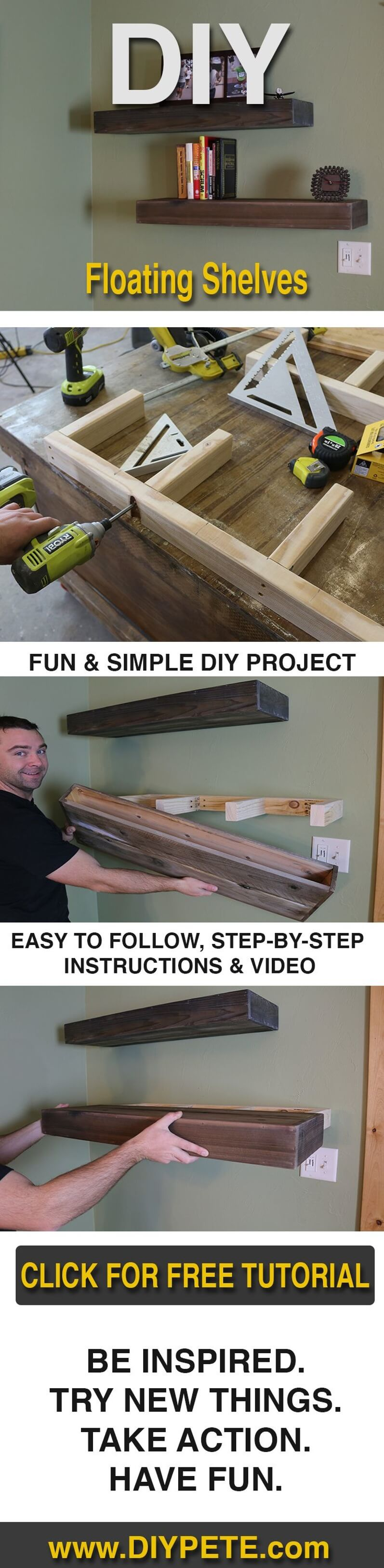27 Best Diy Floating Shelf Ideas And Designs For 2021