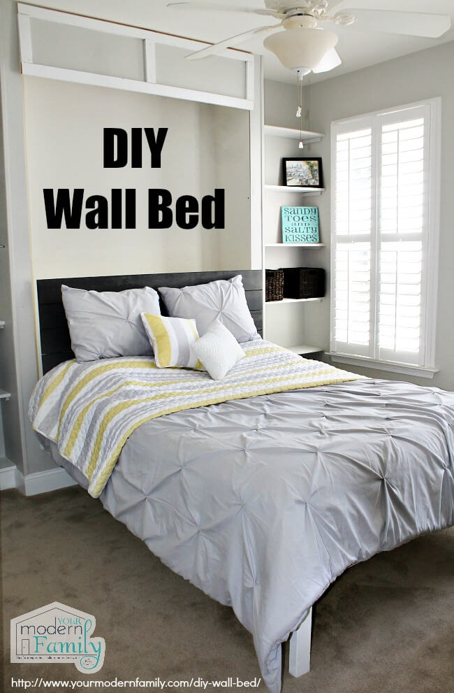 Diy Wall Bed Ideas : Best diy murphy bed ideas and designs for