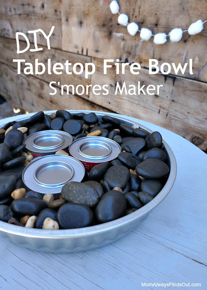 DIY Table Top Fire Bowls for Small Tables