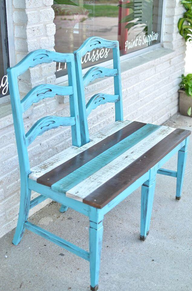 A Double Chair Bench for a Porch