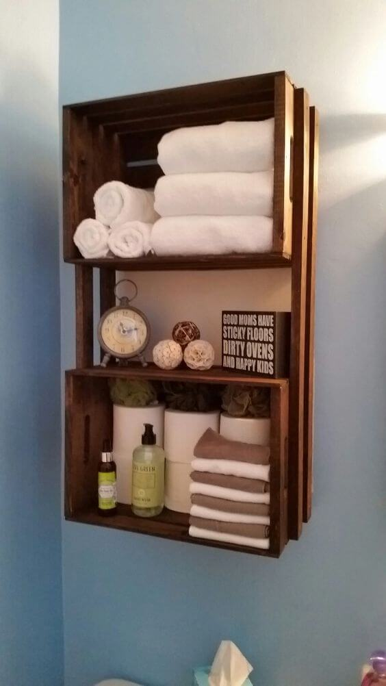 25 Best Diy Bathroom Shelf Ideas And Designs For 2020
