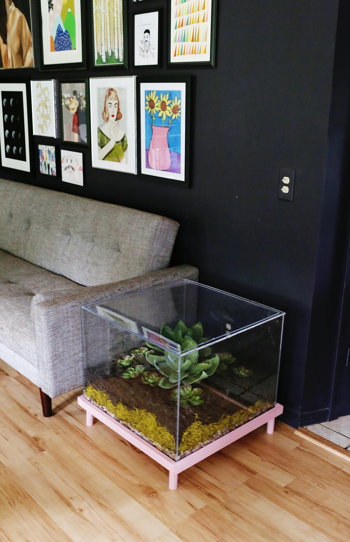 Botanist's Dream Glass Terrarium Table