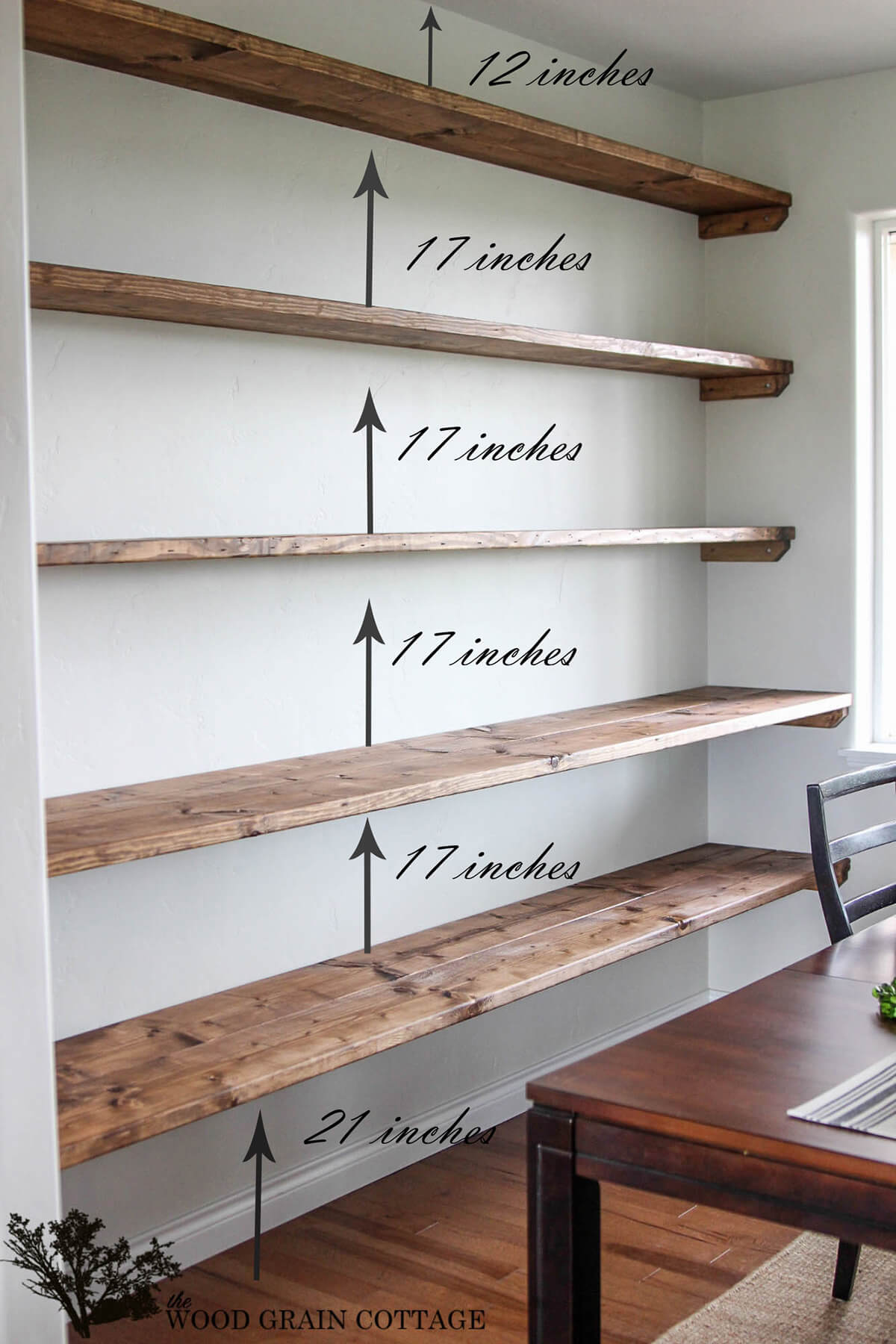 Entire Wall Stacked Shelving for your Dining Area