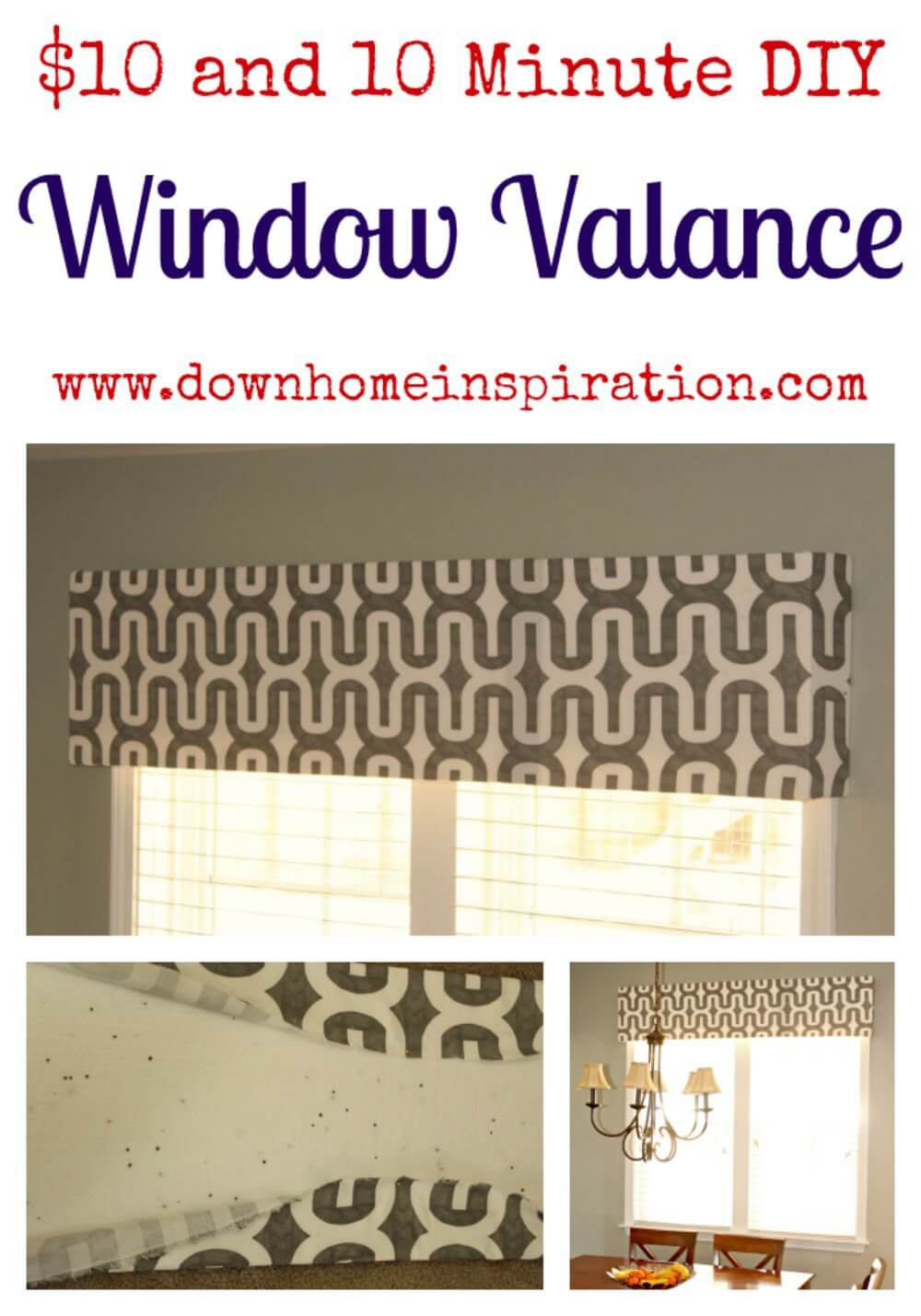Cheap and Cheerful DIY Valance