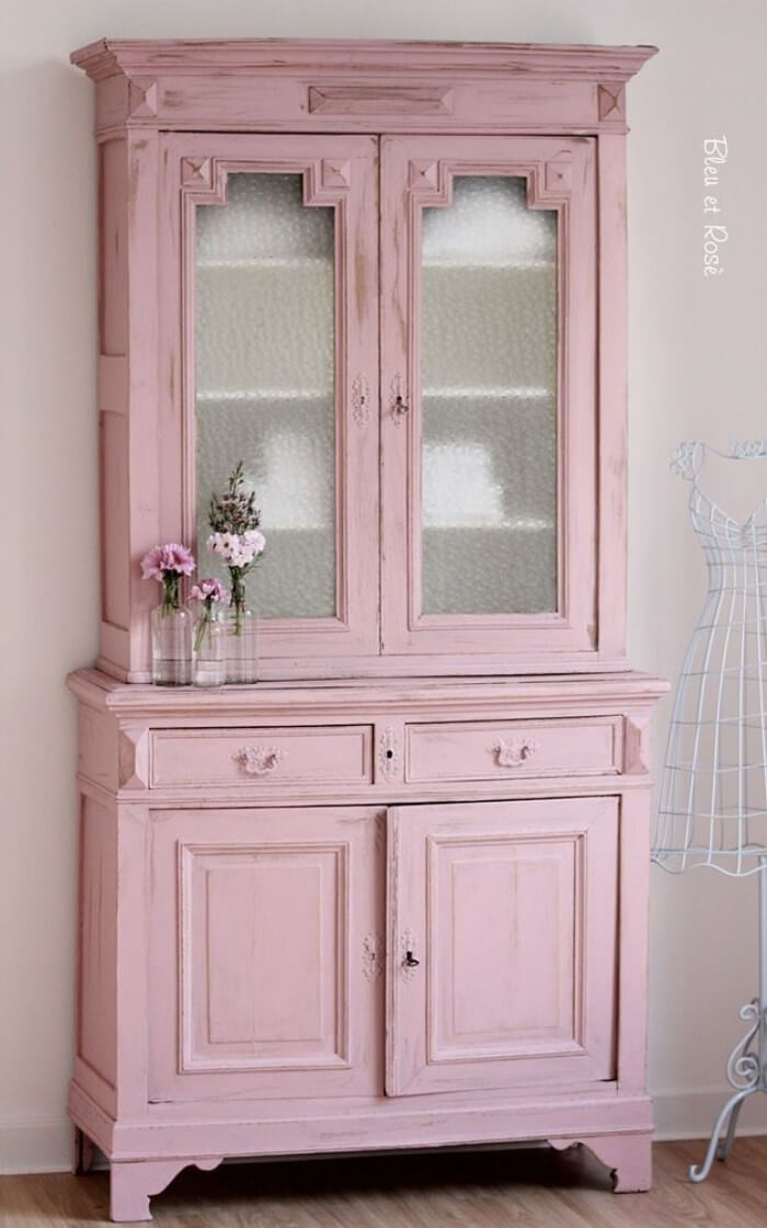 Pantry Pink Refurbished Cabinet