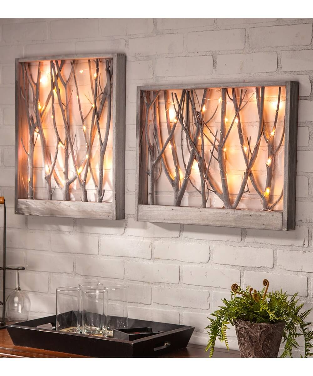 Indoor Forest Framed Branch Lights