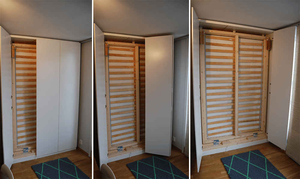 Double Murphy Bed Encased in a Closet