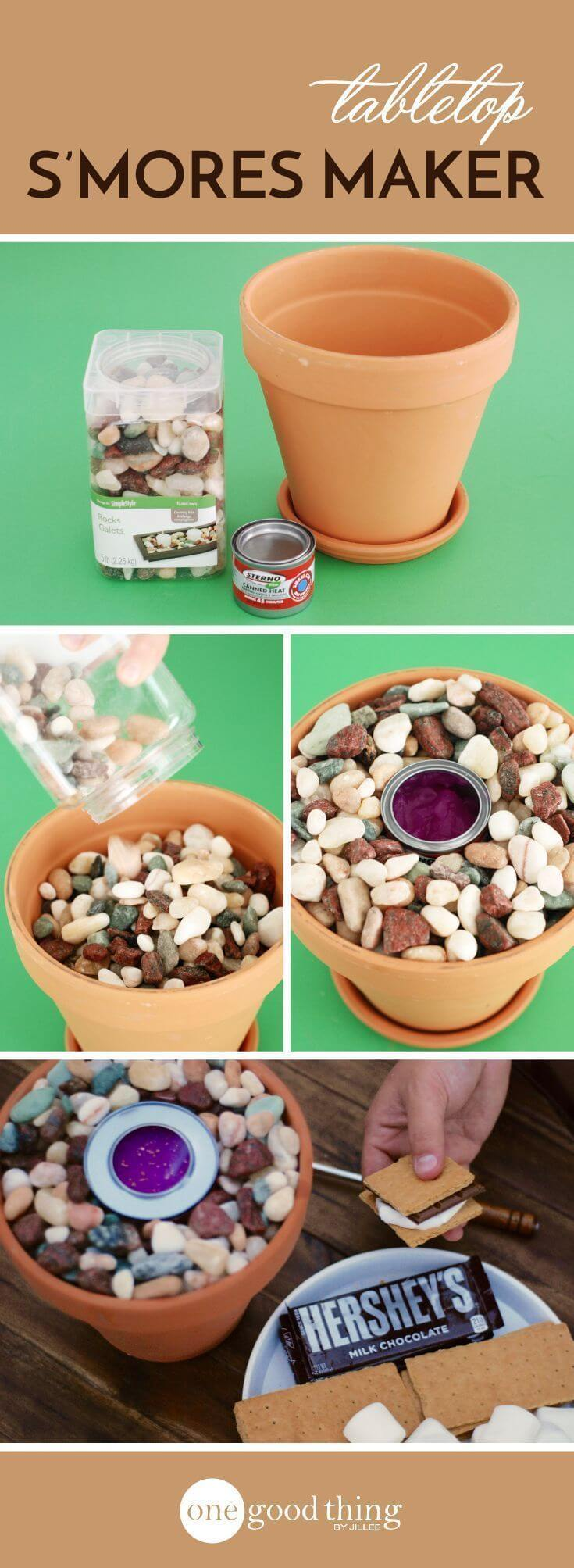 Fire Bowl Design Using a Simple Planter