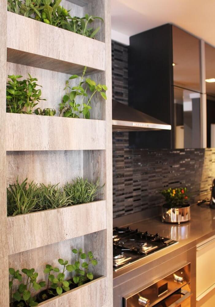 Built-In 'Mini Bookshelf' Herb Garden
